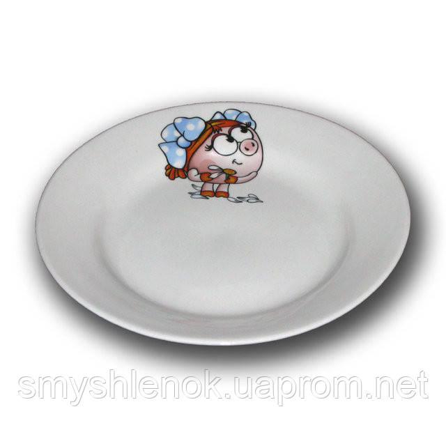 """Детская тарелка мелкая """"Смешарики"""", 175 мм, Д01-175"""