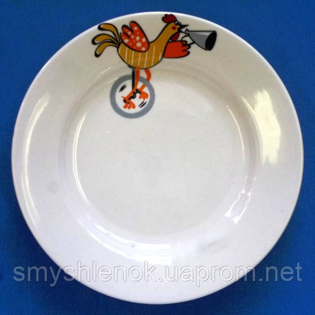 "Детская тарелка мелкая ""Петушок"", 175 мм, Д01-175"