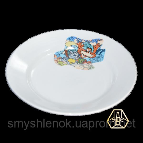 """Детская тарелка мелкая """"Обезьянки"""", 200 мм, Д01-200"""
