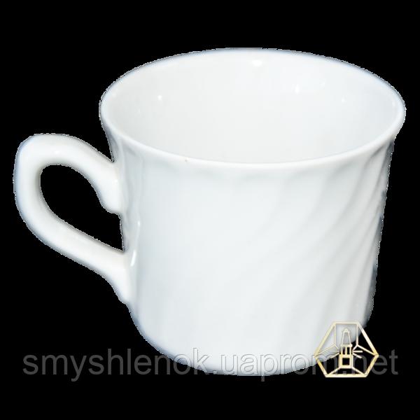Чашка белая без рисунка, деколь, 220 мл, Д01-220