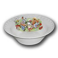 """Набор детской посуды с рисунком для детского сада, серия """"Лесная поляна"""", Д03"""