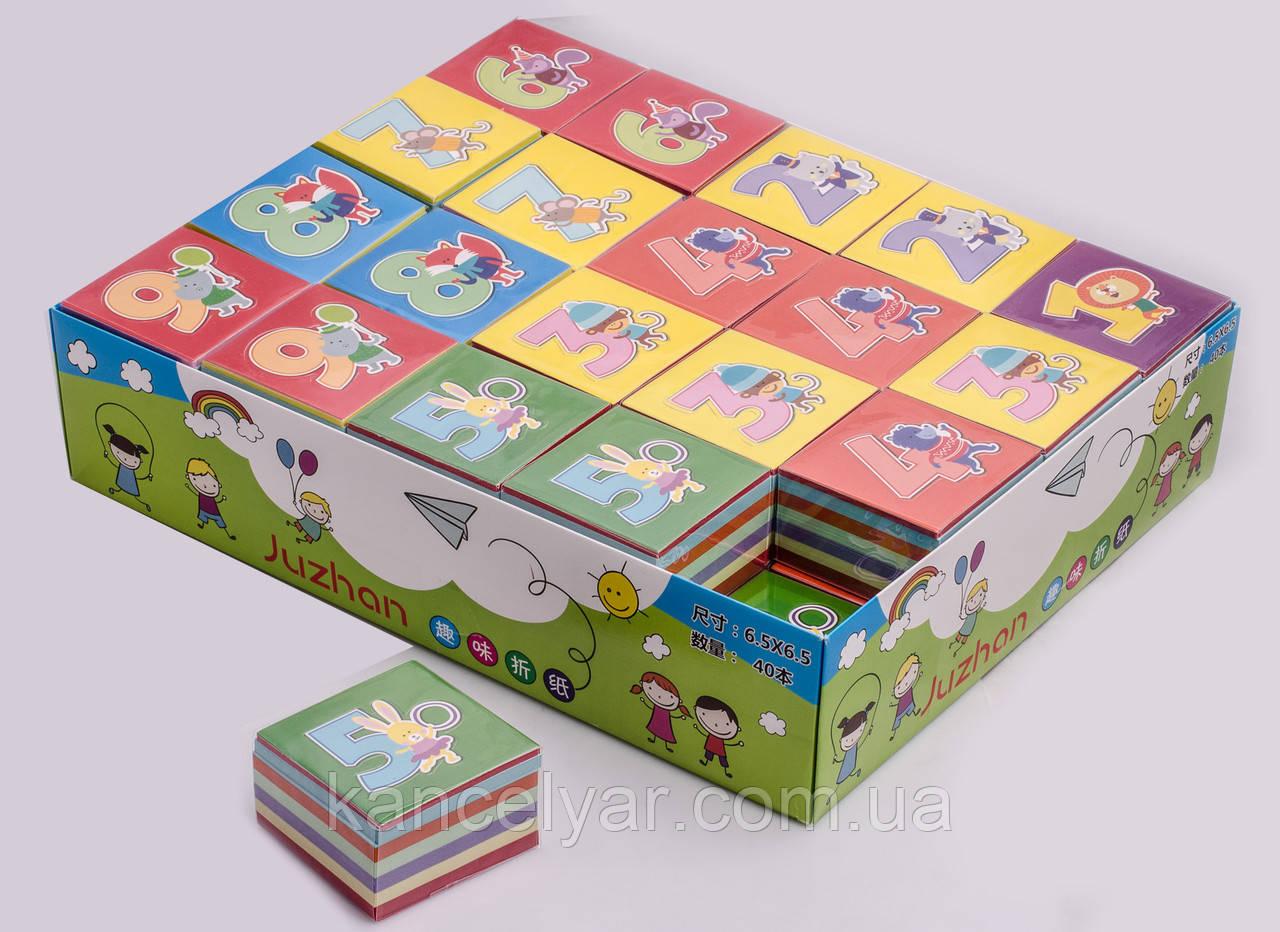 Бумага для оригами: 340 листов, 6.5х6.5 см