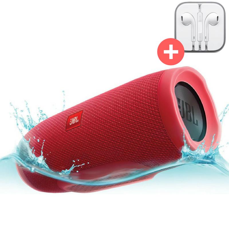 Портативная Bluetooth колонка JBL Charge 3 + MP3 FM USB  Quality Replica. Красная. Red