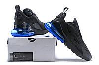Кроссовки Мужские Nike Air Max 270 Flyknit Black Blue, фото 1