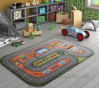 Коврик в детскую комнату Confetti Race Club Gri