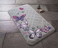Коврик для ванной Confetti Butterfly Plaid Purple 50х57 см