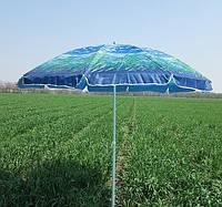 Зонт торговый пляжный 2,5 м дм 10 спиц расцветка (пальмы 1)