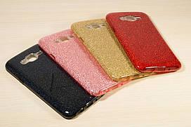 Переливающийся силиконовый чехол для Samsung Galaxy J7 Neo j701 (Разные цвета)