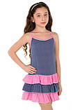 Легкий сарафан-маечка с принтом в мелкий горошек  для девочек 128-158р, фото 2