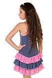 Легкий сарафан-маечка с принтом в мелкий горошек  для девочек 128-158р, фото 3