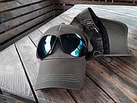 Бейсболка, кепка с очками цвет хаки, фото 1