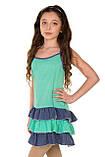 Прелестный сарафан-маечка с принтом в мелкий горошек  для девочек 128-158р, фото 2