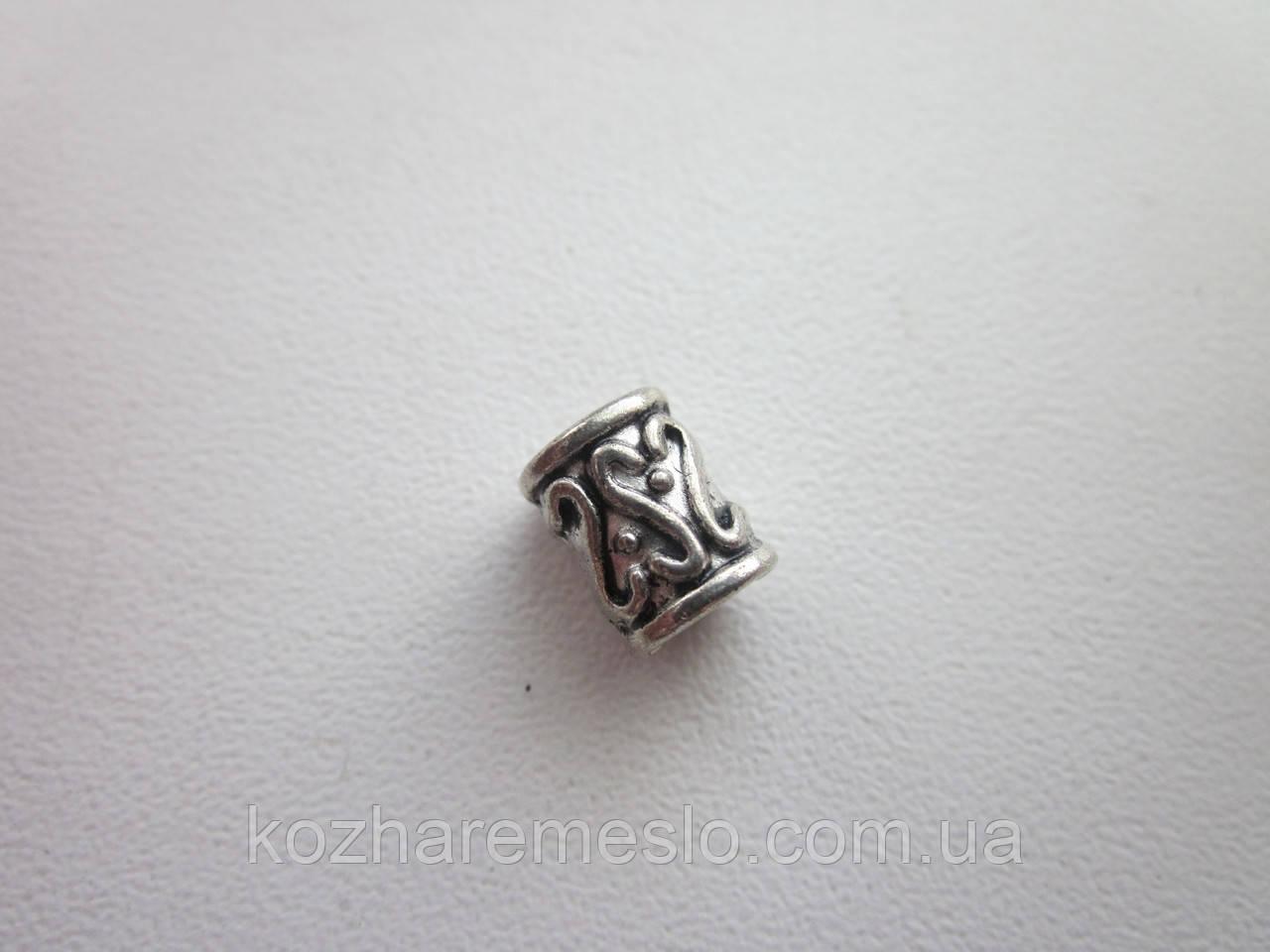 """Бусина металлическая (""""никель"""")"""