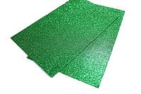 Фоамиран блестящий/глиттерный (разные цвета) 2мм/20х30см:Зеленый