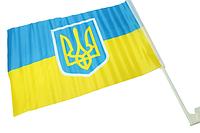 Флаг автомобильный двусторонний (UKRAINE) 30х45