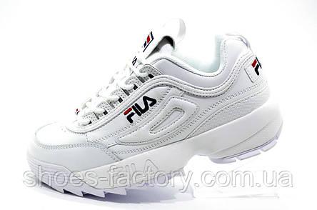 Женские кроссовки в стиле Fila Disruptor 2 White\Белые, фото 2