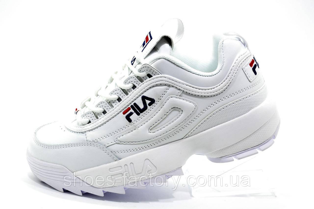 Женские кроссовки в стиле Fila Disruptor 2 White\Белые