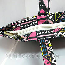 Пляжная сумка текстильная летняя Орнамент опт и розница, фото 3