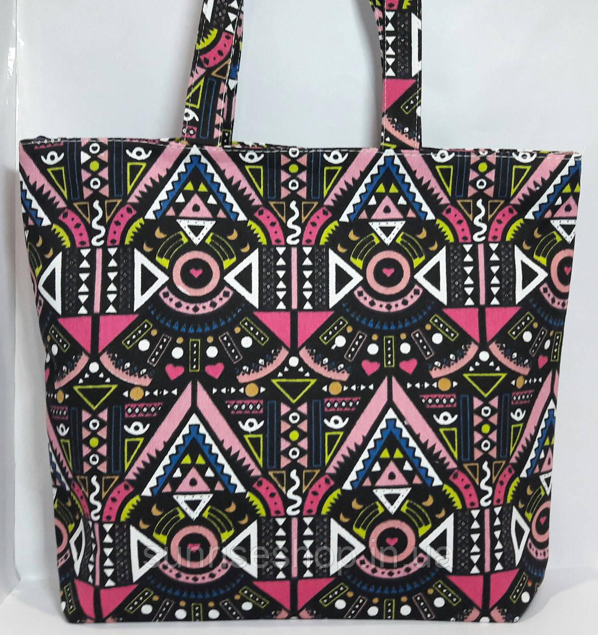 Пляжная сумка текстильная летняя Орнамент опт и розница