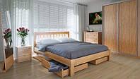 Кровать MeblikOff Вилидж с ящиками (120*190) дуб