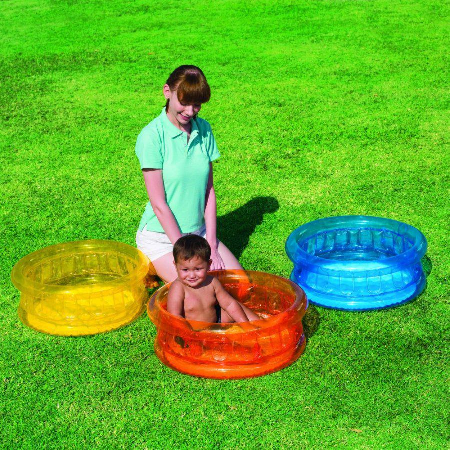 Детский надувной бассейн с мягким дном 64х25 см