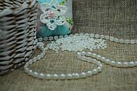 Камешки половинки 4мм бел. (цена за 1 г.) 2000000007199