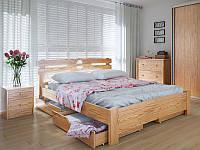 Кровать MeblikOff Кантри с ящиками (140*200) дуб