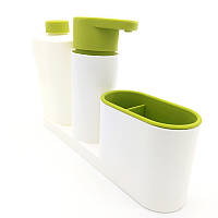 ТОП ЦЕНА! Органайзер для раковины, диспенсер для мыла, подставка для зубных щеток, Sink Tidy Sey Plus 3 в 1, емкость для жидкого мыла, купить мыльницу