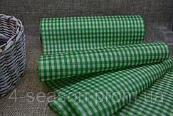 Шотландка тканевая с клеткой  20см зел. (цена за 1м.) 2000000006802