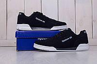 Мужские кроссовки  Reebok Workout Plus  черные- Замша качественная,подошва пена, Размеры: 40-44 Вьетна, фото 1