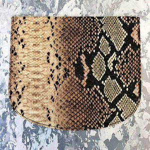 Крышка для сумки «Питон» 21*18 см. Цвет Бежевый