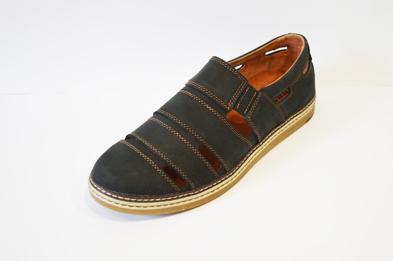 Туфли мужские летние синие Konors