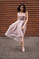 Бежевое платье-пачка Ella