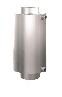Теплообменник на дымоход Ø 115 L=526мм для бани и сауны