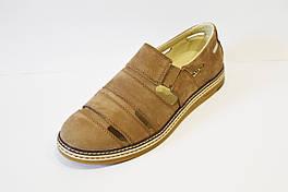 Туфли мужские летние бежевые Konors