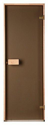Стеклянная дверь для бани и сауны Classic прозрачная бронза 80/200