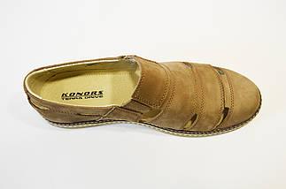 Туфли мужские летние бежевые Konors, фото 3