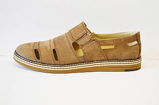 Туфли мужские летние бежевые Konors, фото 2