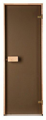 Стеклянная дверь для бани и сауны Classic прозрачная бронза 70/200