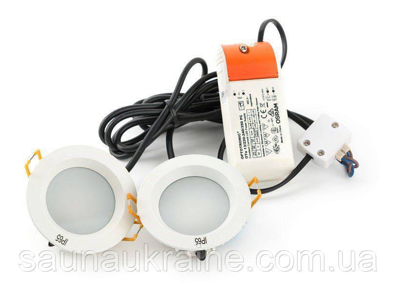 Светильник для хамама Светильник PUNCTOLED 2х5.5W / 2 свет.+ трансформатор