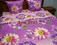 Комплект постельного БЯЗЬ оптом и в розницу, Сиреневые герберы 0743-2