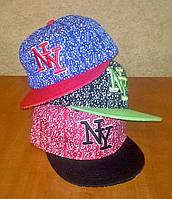 Бейсболка реперка детская NY с прямым козырьком, фото 1