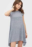 Вискозное меланжевое платье кроя трапецией (Intego crd)