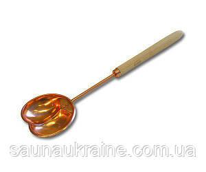 Черпак 48 см лакированная медь фигурный для бани и сауны