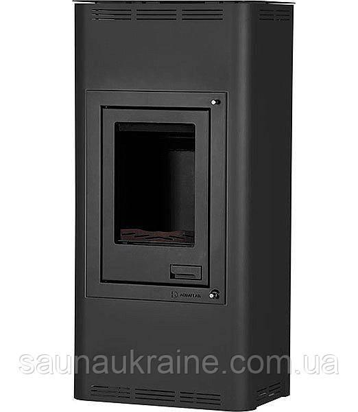 Отопительная печь-камин длительного горения AQUAFLAM 7 (водяной контур, полуавтомат, черный)