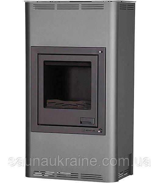 Отопительная печь-камин длительного горения AQUAFLAM 17 (водяной контур, полуавтомат, серый)