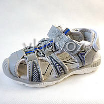 Детские босоножки сандалии для мальчика на мальчиков мальчику Tom.M серые Спорт 29р., фото 2