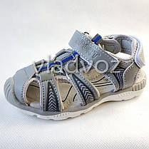 Детские босоножки сандалии для мальчика на мальчиков мальчику Tom.M серые Спорт 29р., фото 3