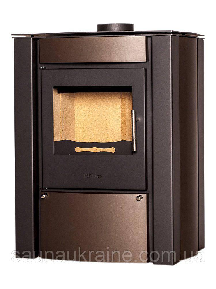 Отопительная печь-камин FLAMINGO AMOS (коричневый бархат)