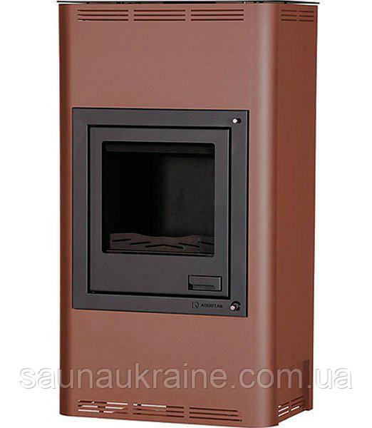 Отопительная печь-камин AQUAFLAM 17 с водяным контуром авт. рег. (бронза)